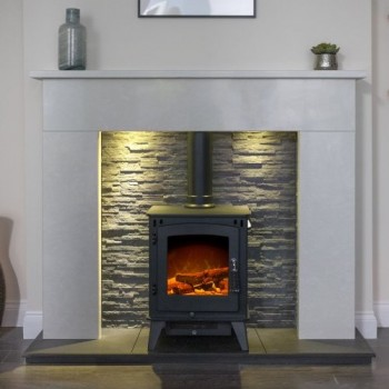 Aurora Palma Marble Electric Fireplace