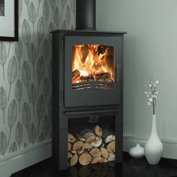 Evolution Desire 5 Multifuel Stove With Log Store