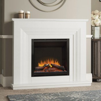 Elgin & Hall Vitalia Marble Electric Fireplace