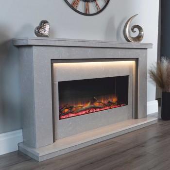 Malaga Infinity i890e Marble Electric Fireplace
