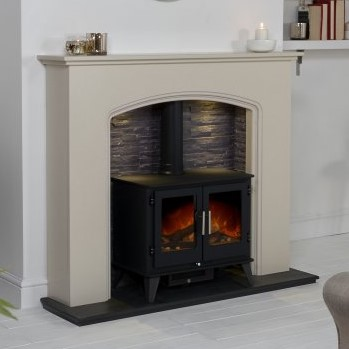 Aurora Messina Marble Electric Fireplace
