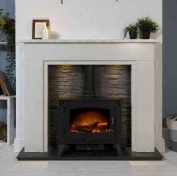 Aurora Monterrey Marble Electric Fireplace
