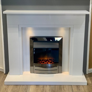 Aurora Montreal Marble Electric Fireplace