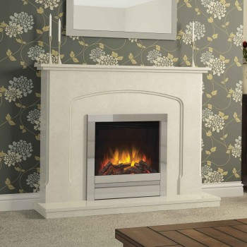 Elgin & Hall Newham Marble Electric Fireplace
