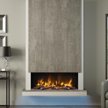 "Elgin & Hall Pryzm 53"" Camino Timber Electric Fireplace"
