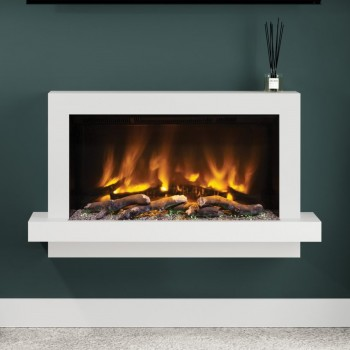"Elgin & Hall Pryzm 41"" Huxton Timber Electric Fireplace"