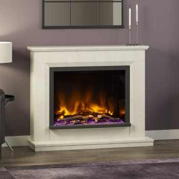 Elgin & Hall Pryzm Alesso Marble Electric Fireplace
