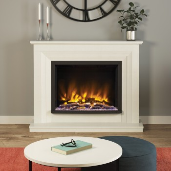 Elgin & Hall Pryzm Cabrina Marble Electric Fireplace