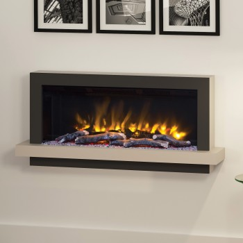 "Pryzm 51"" Huxton Wall Mounted Electric Fire"