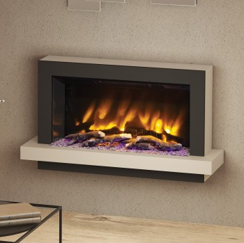 "Pryzm 41"" Huxton Wall Mounted Electric Fire"