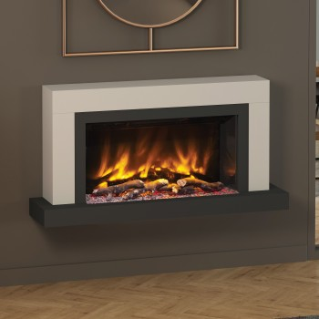 "Elgin & Hall Pryzm 47"" Vardo Timber Electric Fireplace"