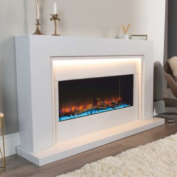 Smart Infinity i890e Marble Electric Fireplace