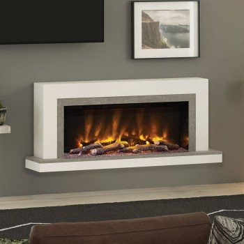 "Elgin & Hall Pryzm 57"" Vardo Timber Electric Fireplace"