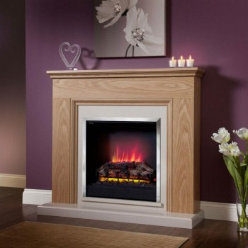 Be Modern Stanton Eco Electric Fireplace Natural Oak