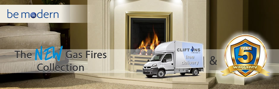 Be Modern New Gas Fires Collection - Free Delivery and 5 Year Warranty