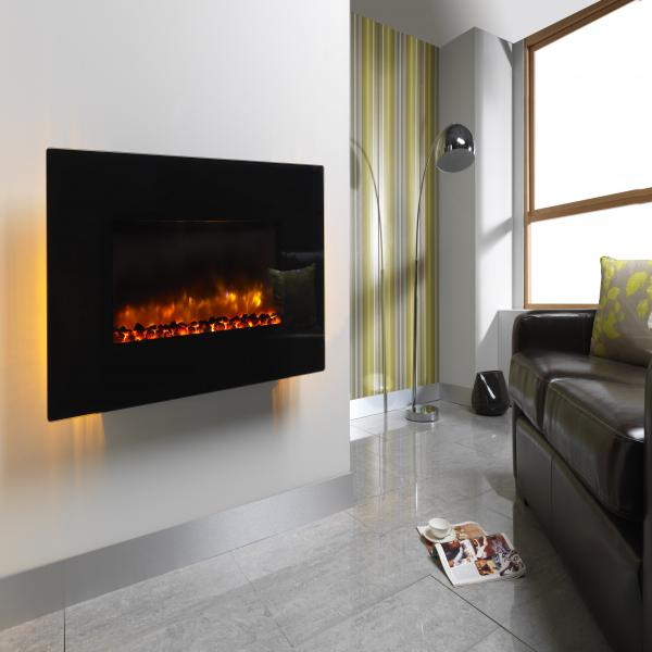 Wall Mounted Electric Lights : Wall Mounted Electric Fires With Back Lighting images